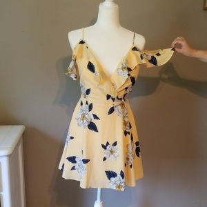 J.O.A. yellow floral dress